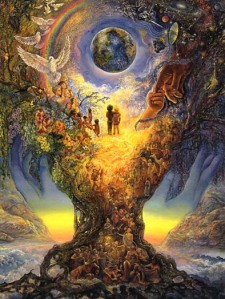 Millennium tree by Josephine Wall