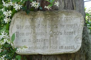 This plaque was in my Granny Rae's garden