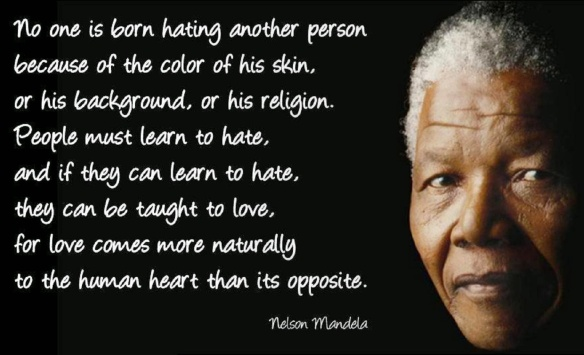 no one born hating mandela