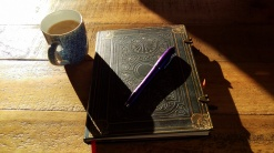 Morning coffee + journal